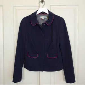 Boden Ponte Knit Piped Trim Blazer